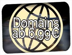 Domains ab 7,99€