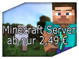 Minecraft Server ab nur 2,49€