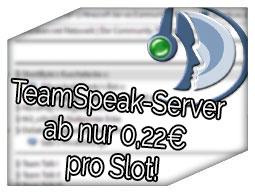Teamspeak Server für nur 0,20€ pro Slot